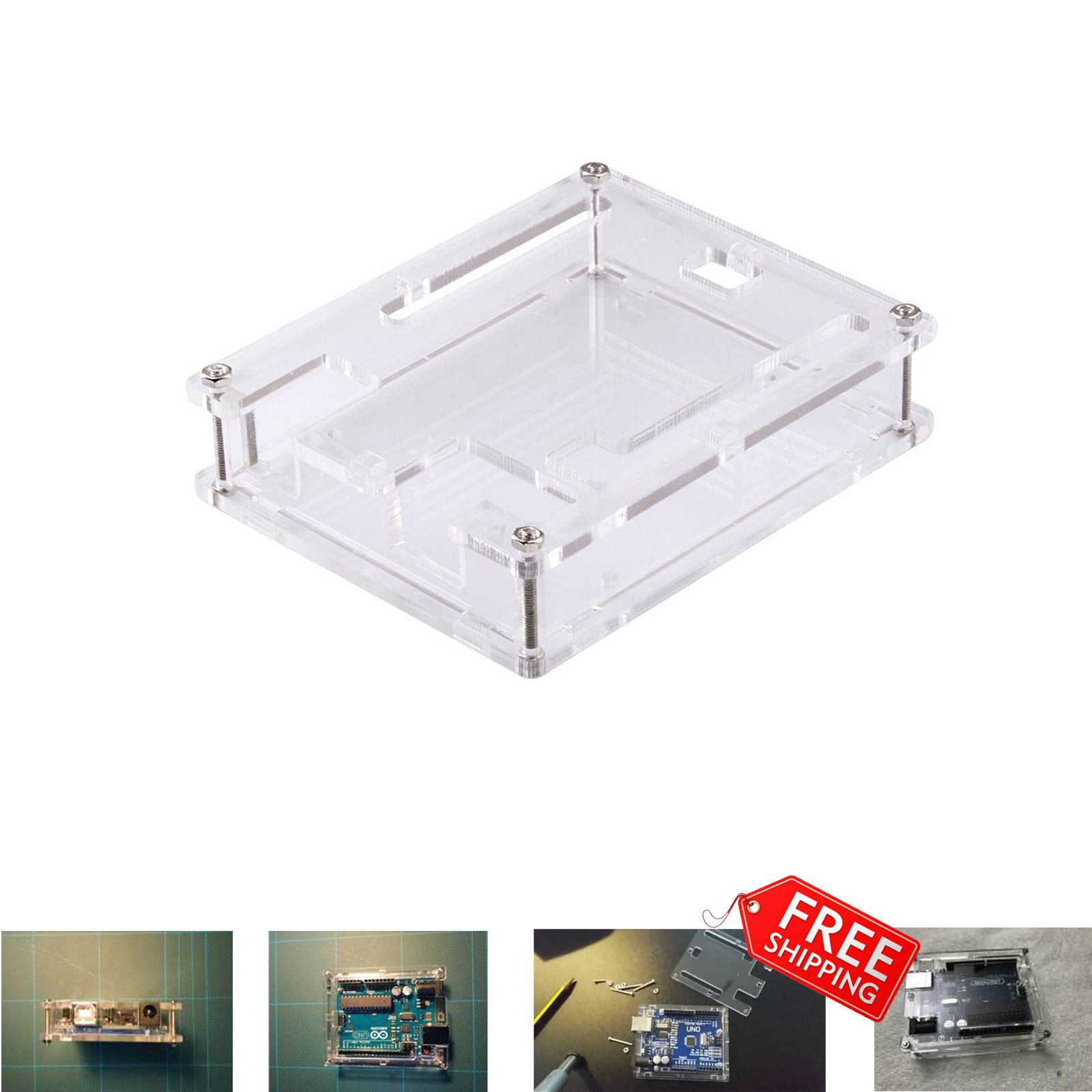 Uno R3 Case Enclosure Transparent Acrylic Box Compatible Shell Casing Arduino Hown Store Comp