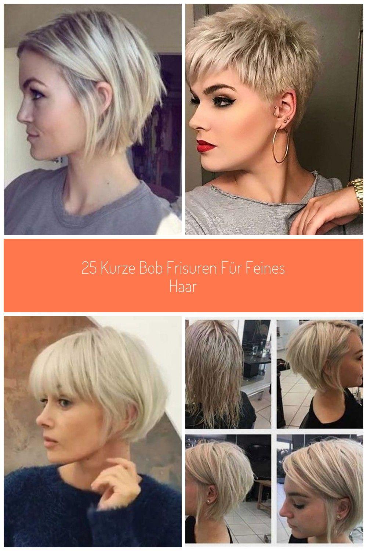Short Bob Haircuts for Thin Hair #Kurze Haarschnitte bob 9 kurze