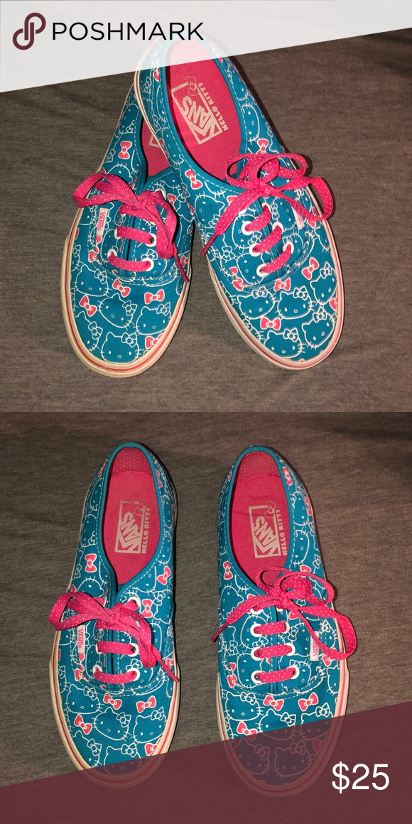 bdfe954faa0c6 Hello kitty x Vans sneakers Worn No box Great condition Vans Shoes Sneakers