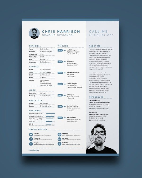 Free Resume is a one page resume template you can download for - single page resume