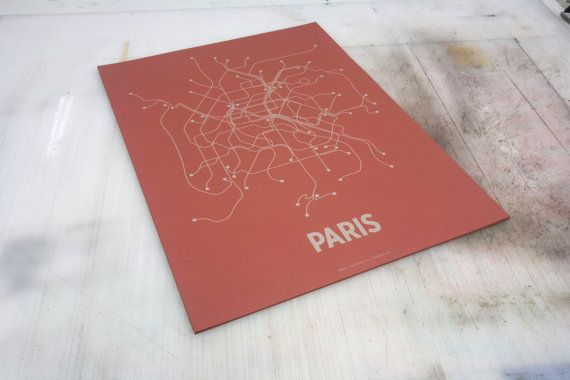 Map o' Paris, silly. But just in it's veins of public transport. Sorta like Osmosis Jones.
