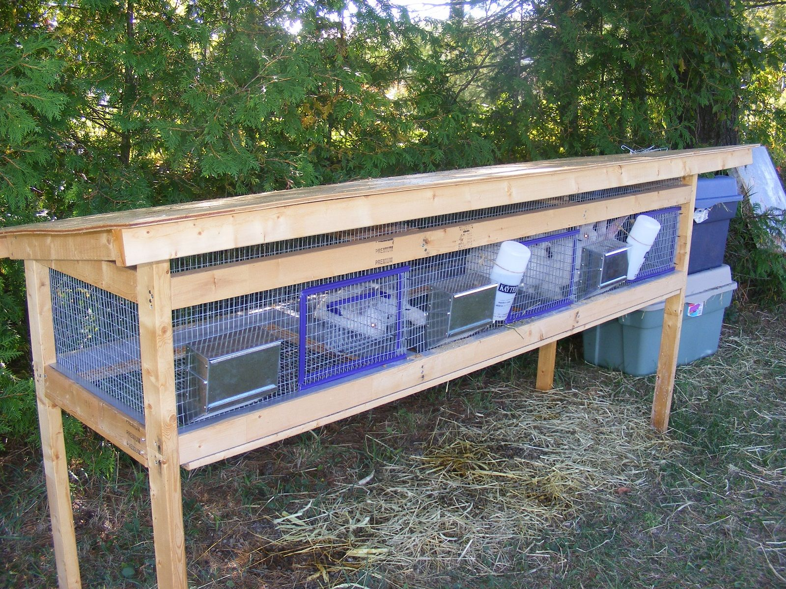 how to build a outdoor rabbit cage out of wood howsto co