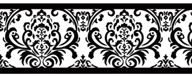 Black And White Isabella Wall Border Classic Damask Wallpaper Borders Great For Any Room Damask Wall Damask Wallpaper Wall Borders
