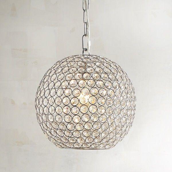 pier 1 imports crystal bead orb pendant light 149 liked on