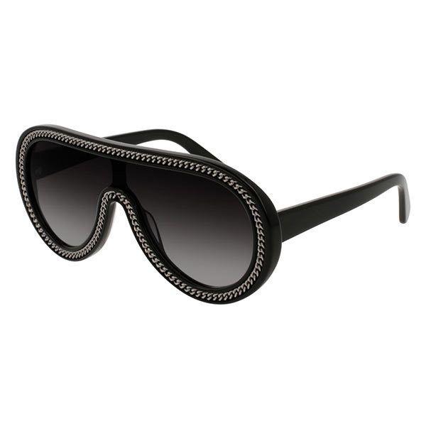 Stella McCartney SC0042S 001 Sunglasses ($520) ❤ liked on Polyvore featuring accessories, eyewear, sunglasses, lens glasses, stella mccartney sunglasses, stella mccartney glasses, stella mccartney eyewear and stella mccartney