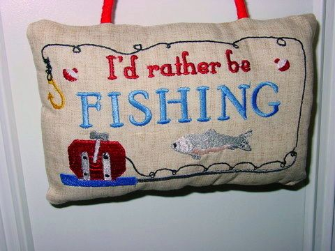 Fishing Pillow - Oma's Place