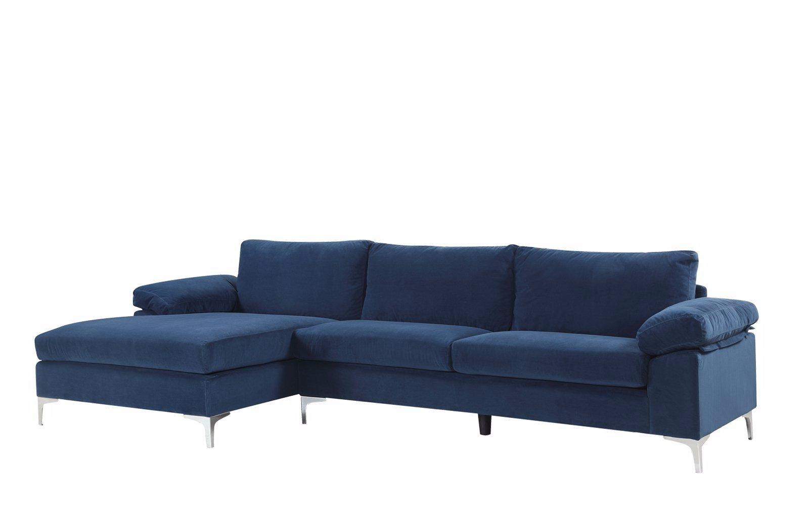 Fantastic Amanda Modern Velvet Large Sectional Sofa Take Me Home Short Links Chair Design For Home Short Linksinfo