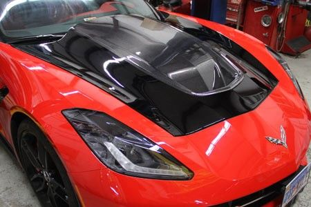 2014 2015 Corvette Acs Zero7 Extractor Carbon Fiber Hood Carbon Fiber Exterior Accessories 2015 Corvette