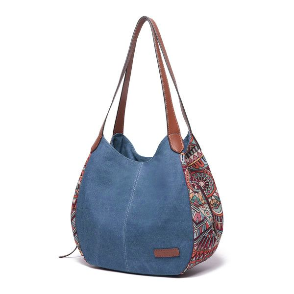 3 Main Bags Brenice Bohemia Large Capacity Canvas Floral Handbag Shoulder Bag Fo… – JEAN BAG