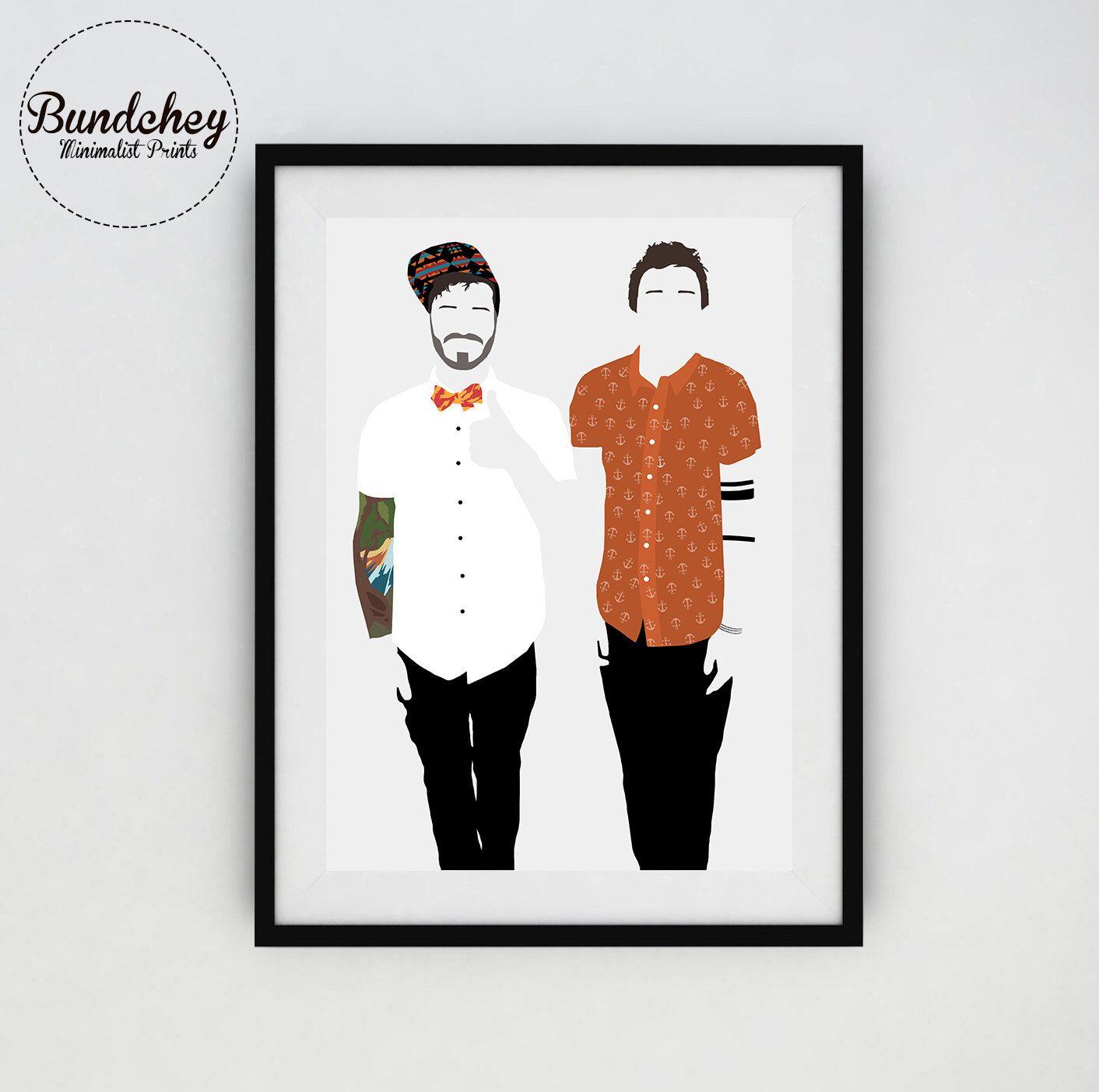 95793cad43149 TWENTY ONE PILOTS - Tyler Joseph and Josh Dun - Minimalist Poster Art by  Bundchey on