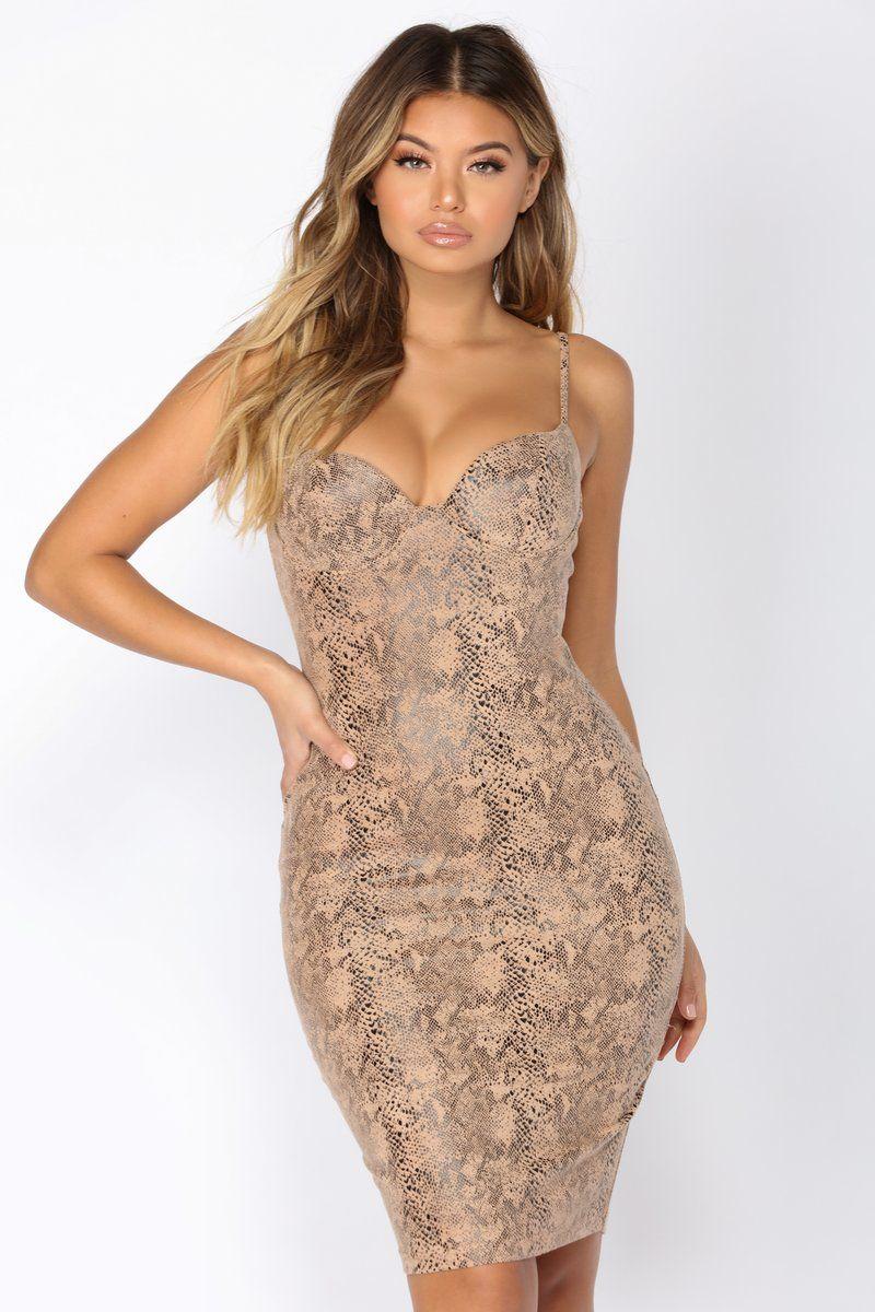 Karolina Midi Dress Tan Midi Dress Dresses Fashion [ 1200 x 800 Pixel ]
