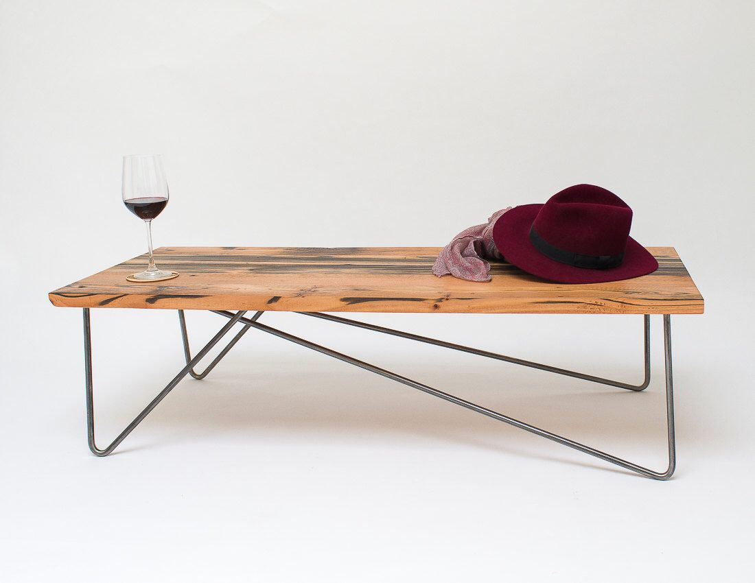 Shift Asymmetric | Reclaimed Timber Coffee Table | Haarnadel Beine ...