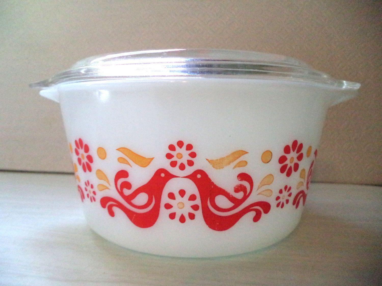 Vintage Pyrex Friendship Mixing Bowl 473 1 Quart USA Kitchen ...