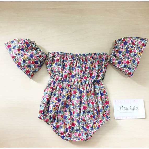 97a871dd9 Baby off the shoulder romper