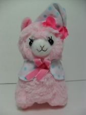 """Good Night"" Alpacasso Pink Alpaca Sleeping Cap Pajama 16cm Plush Arpakasso Cute"