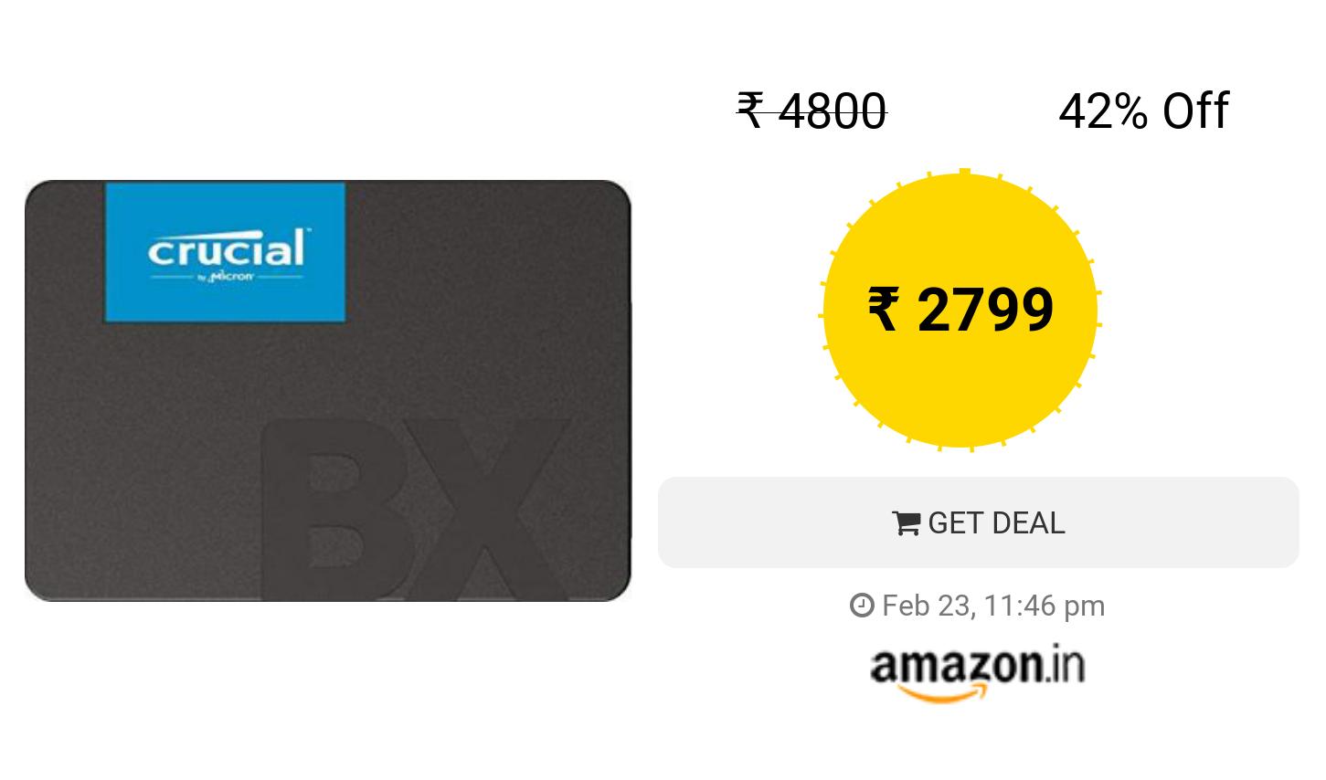 Crucial BX500 240GB 3D NAND SATA 2 5-Inch Internal SSD