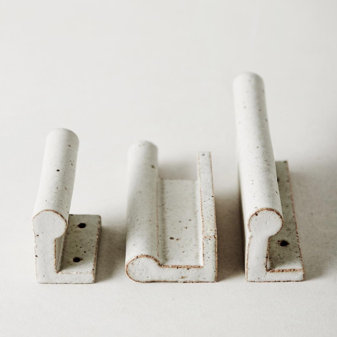 The Sage Grey Glaze We Use For Our Wall Hooks Has A Kind Of Chalky Softness That Is Cool And Grounding To The Touch The Glaze Break Along The Crisp Edge Of