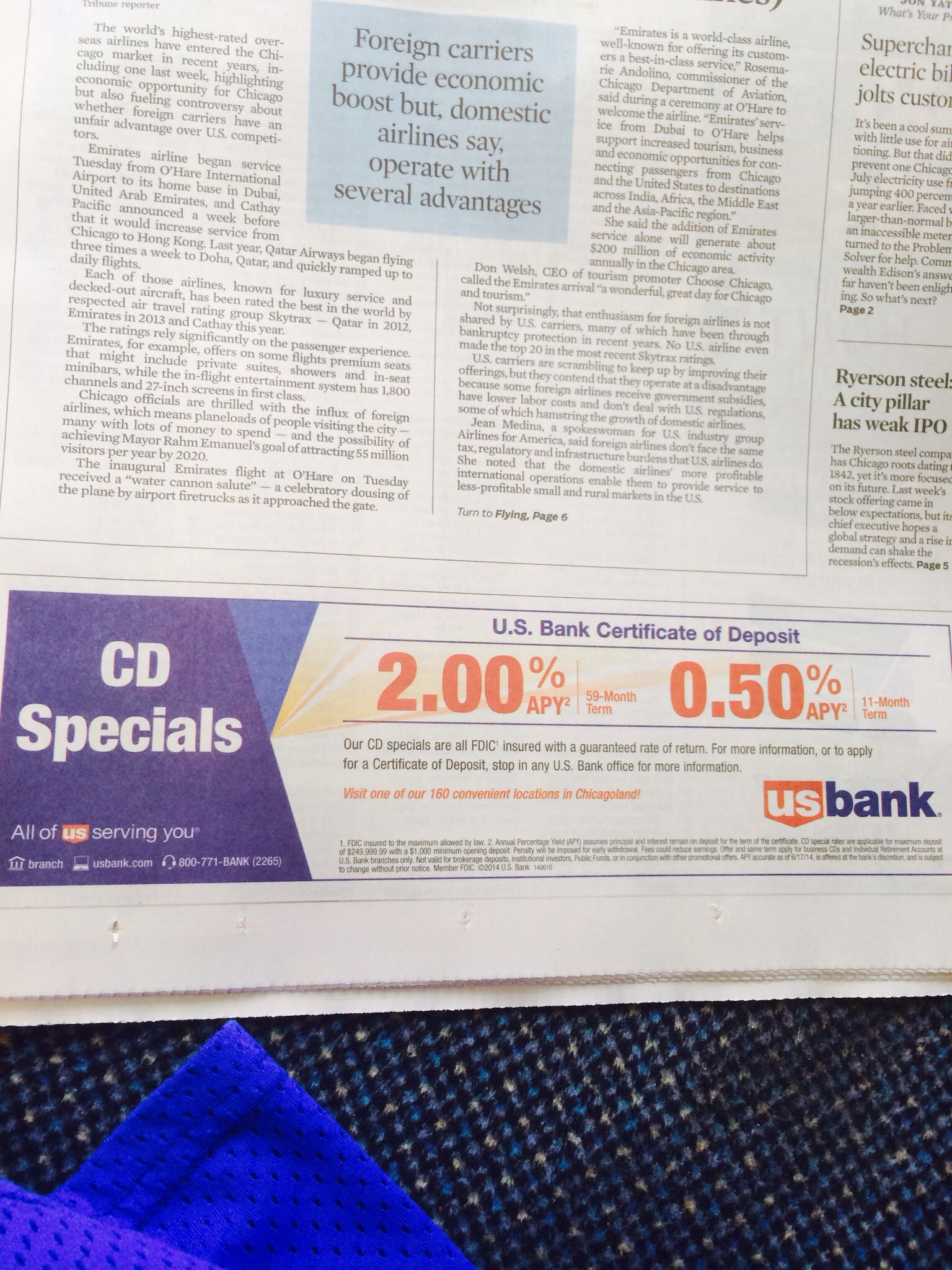 8 10 14 Us Bank Offers 2 05apys On 59 Month 11 Month Cds