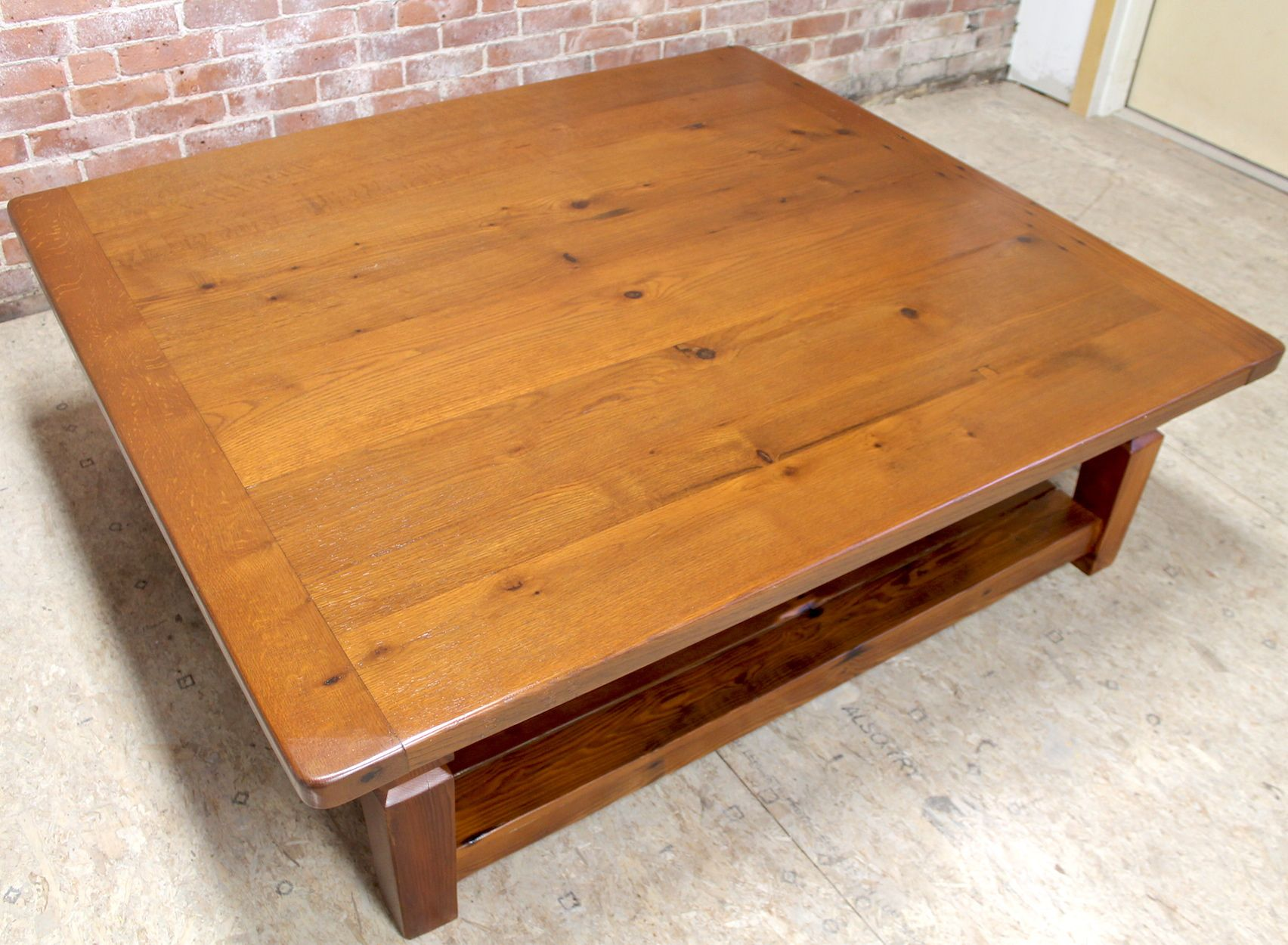 Rustic Coffee Table From Reclaimed Wood #Reclaimed #Oak By Ecustomfinishescom