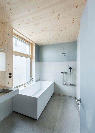 Une salle de bain bicolore - salle de bain design douche italienne