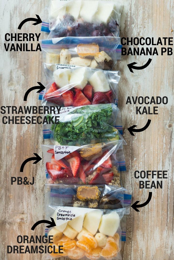 14 Fruit Smoothie Freezer Packs #fruitsmoothie