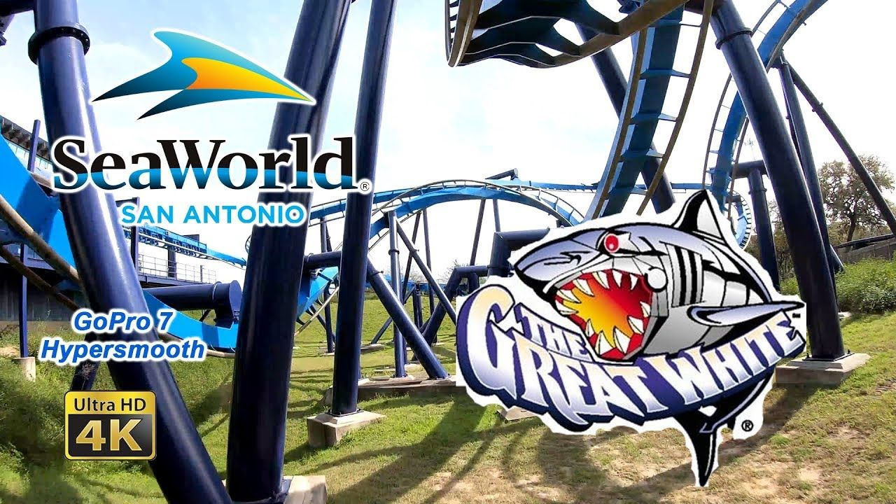 2019 Great White Roller Coaster On Ride Front Seat Ultra