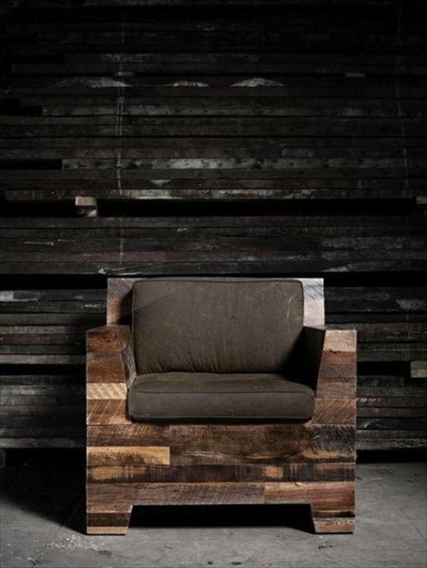 Holz Sessel Aus Paletten Selber Bauen | Sessel Diy | Pinterest