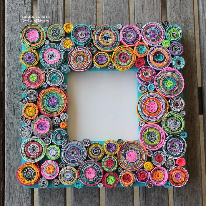 Upcycled Rolled Paper Frame Frames Diy Crafts Magazine Crafts