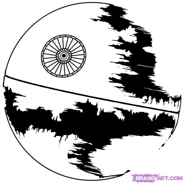 How To Draw Death Star Step By Step Star Wars Characters Draw Star Wars Stencil Star Coloring Pages Star Wars Drawings