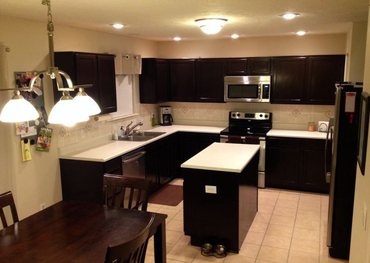 java gel stain kitchen for the home from Java Cabinets Kitchen ...