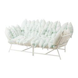IKEA - IKEA PS 2017, 2-pohovka s 36 vankúšmi, biela/krémová,