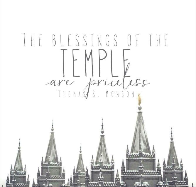 Blessings of the temple are priceless - Thomas S Monson