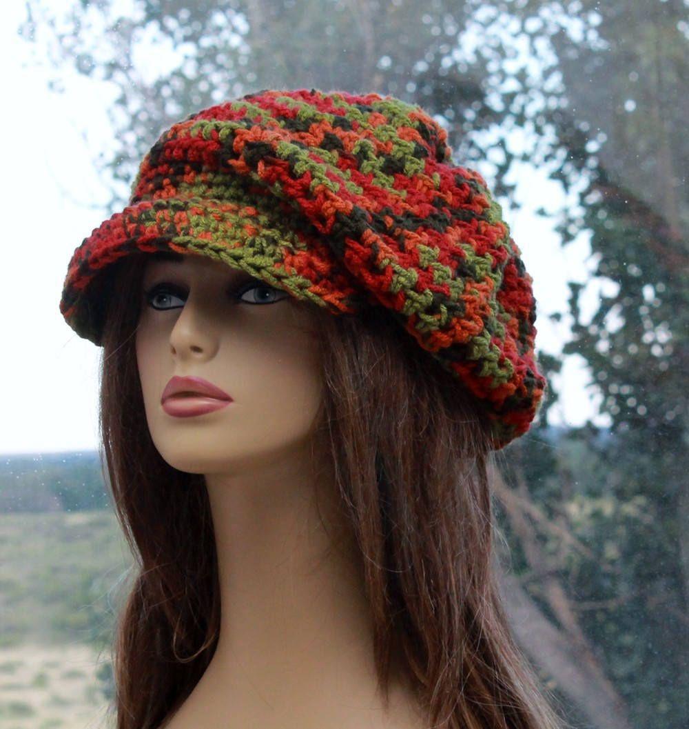 Contemporáneo Patrones De Crochet Sombrero De Repartidor De ...