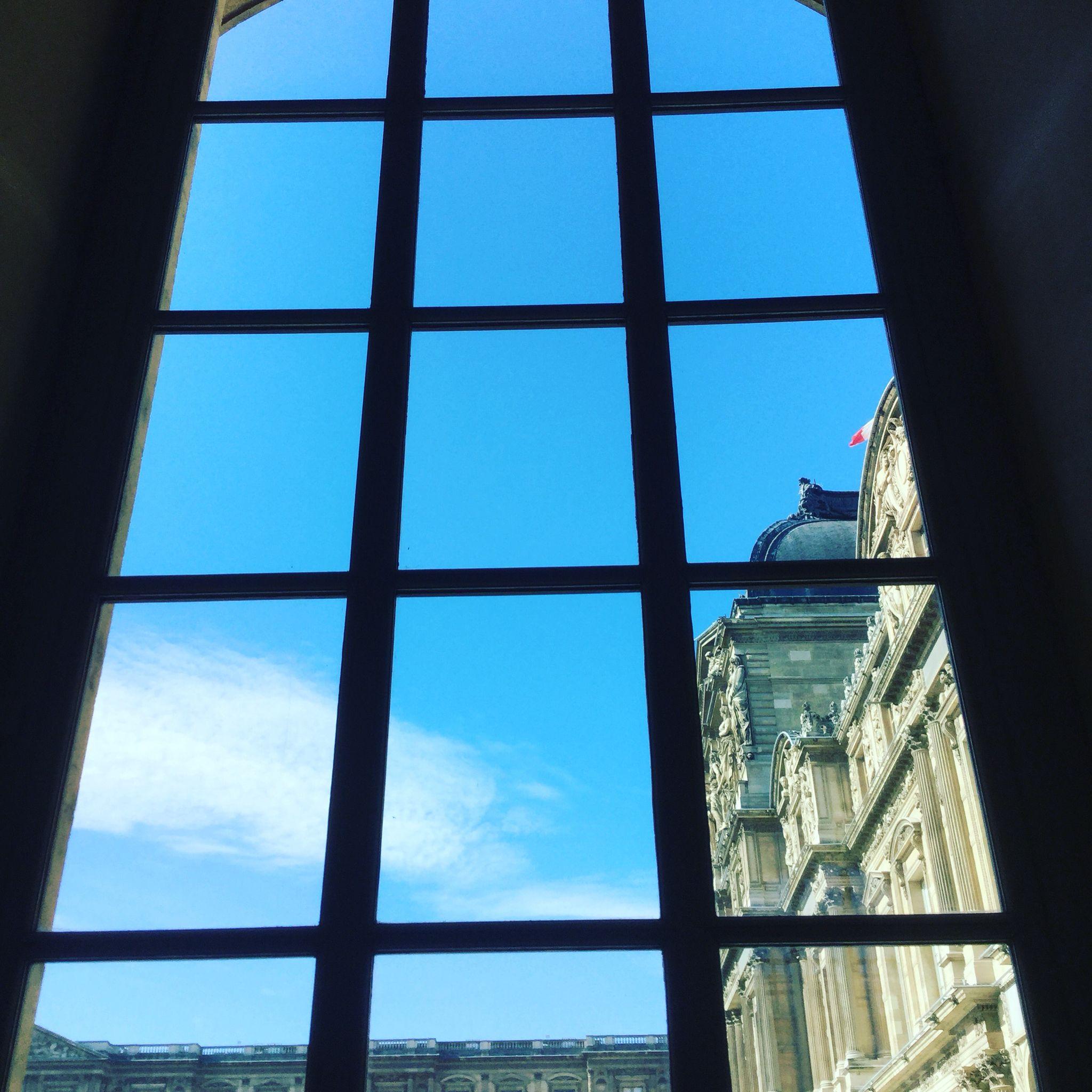 Louvre through a window