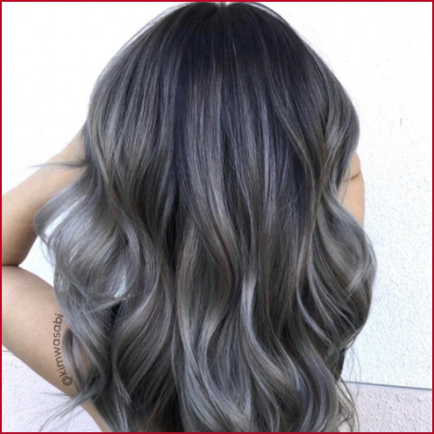 Try easy black and gray hair color charcoal hair color using