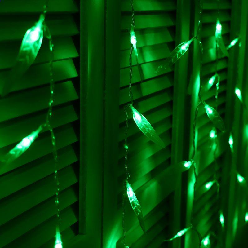 Led Fenster Weihnachtsbeleuchtung.Julelys Willow Garland Fenster Led Vorhang Lichter Urlaub Dekorative