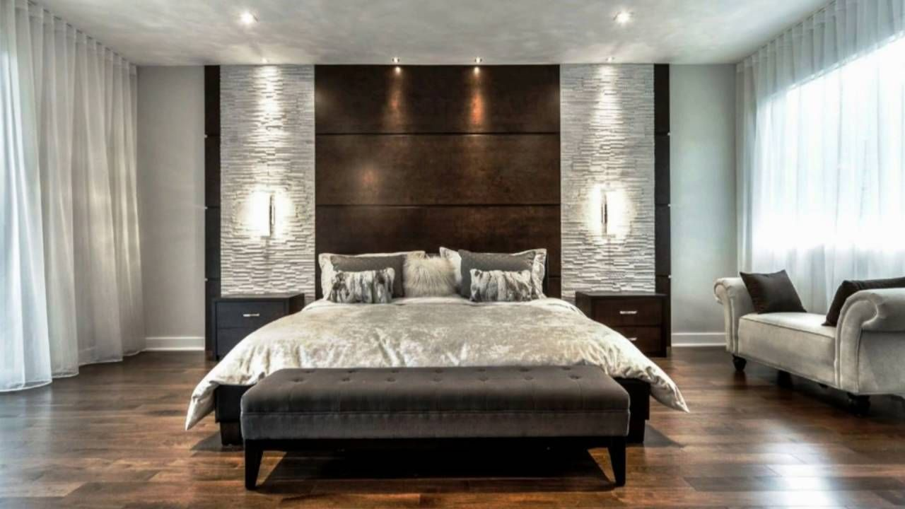 Ideas Modern Bedroom Bed Back Wall Design Novocom Top