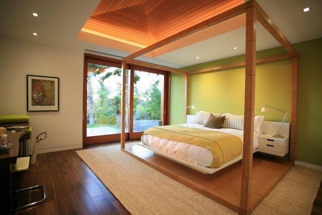 Exotik Im Schlafzimmer Himmelbett Aus Holz Moderne Residenz Kona