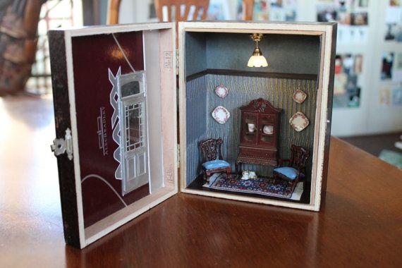 Dollhouse Miniature Size Victorian Cigar Box