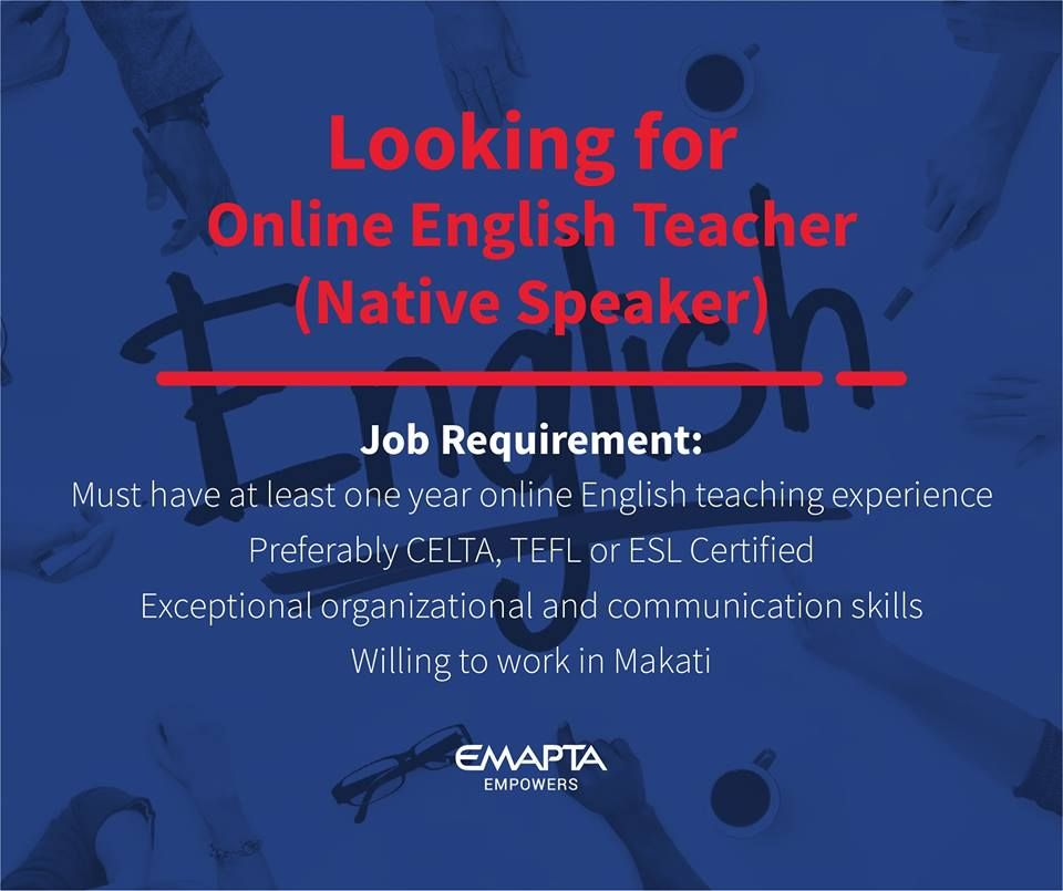 Is online English teaching your forte? Are you a Native