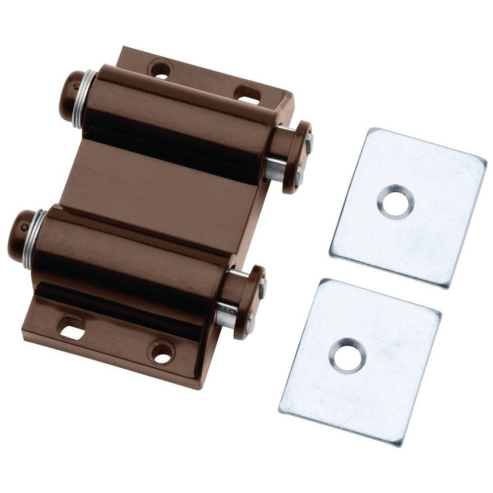 Liberty 2 In Brown Spring Loaded Double Magnetic Touch Catch C07775c Br C The Home Depot Magnetic Latch Latches Liberty Hardware