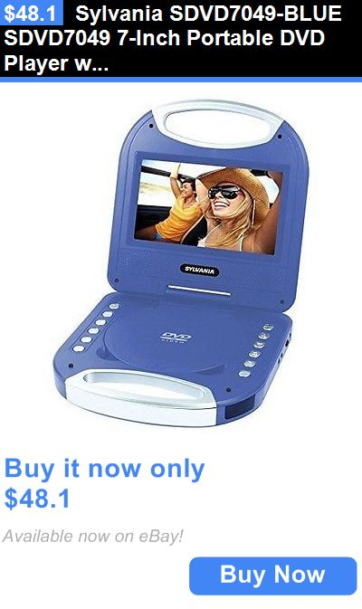 Dvd And Blu Ray Players Sylvania Sdvd7049 Blue Sdvd7049 7 Inch Portable Dvd Player With Handle Blue New Buy It Portable Dvd Player Dvd Player Blu Ray Player
