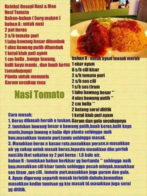Nasi Tomato Labu Makanan Resep