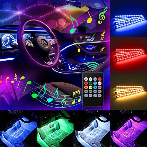 Car led strip light komake 4pcs 48 led multicolor music car car led strip light komake 4pcs 48 led multicolor music car interior lights underdash car mozeypictures Images