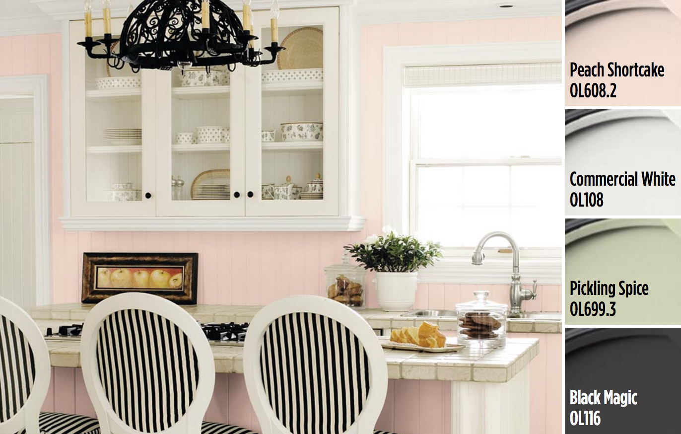 Create Your Delightful Kitchen With Paint Colors From Olympic® Paints. A  Stark Black And