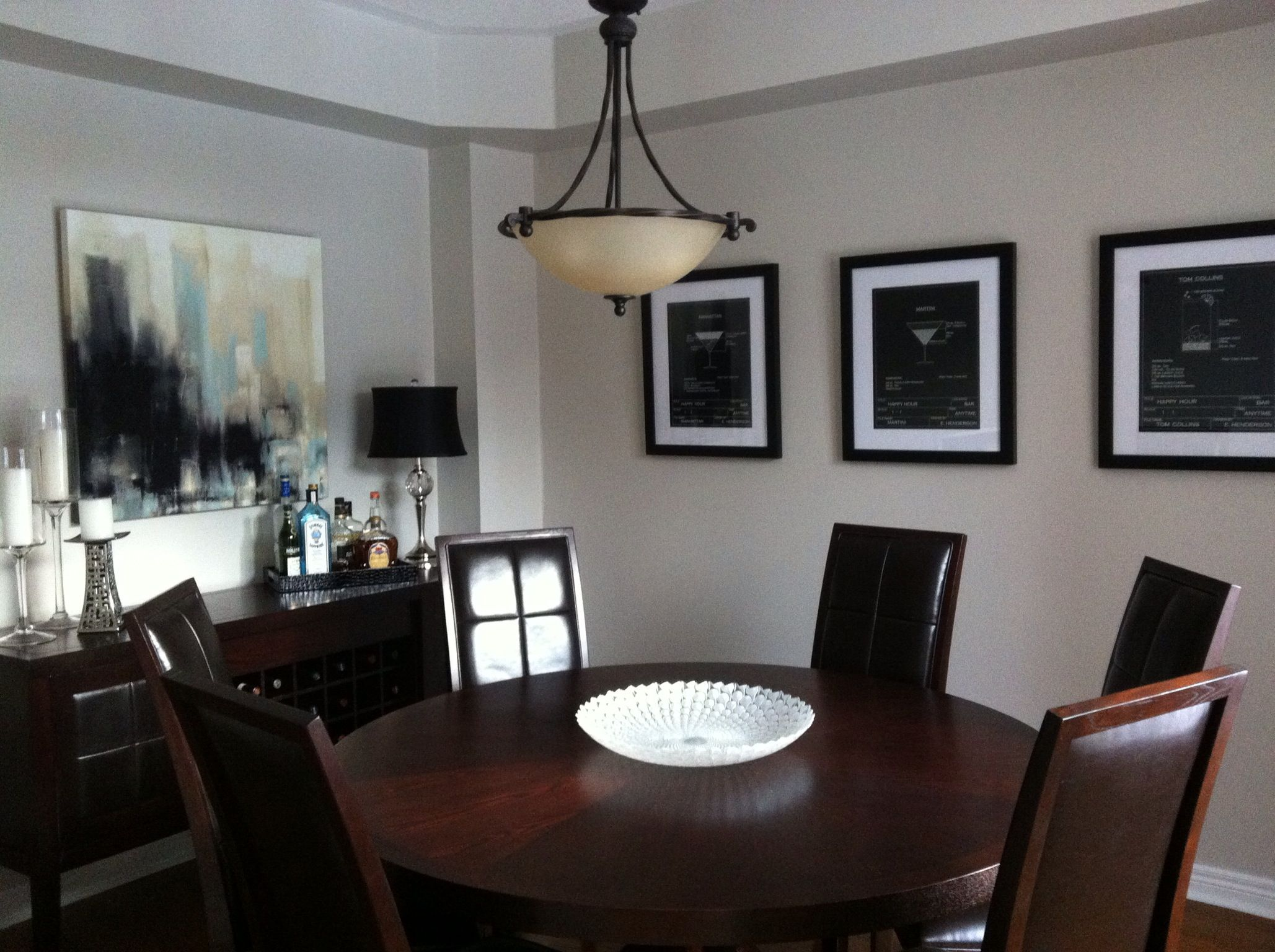 Dining room redo benjamin moore paint collingwood - Benjamin moore interior paint colors ...