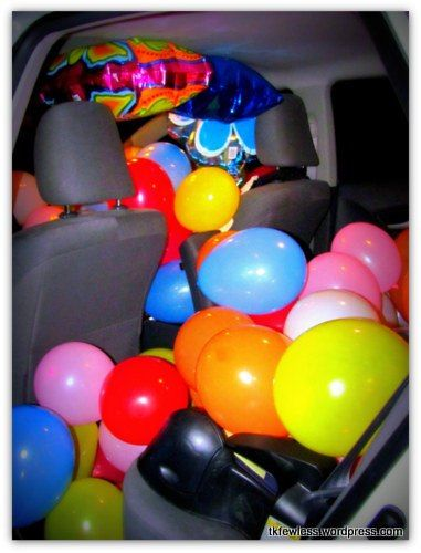Decorate The Inside Of Your Car Birthday Surprise For Husband Balloon Also Best Event Decorations Images