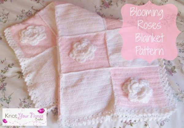 Knot Your Nana's Crochet shared a free #crochet pattern for a blooming blanket