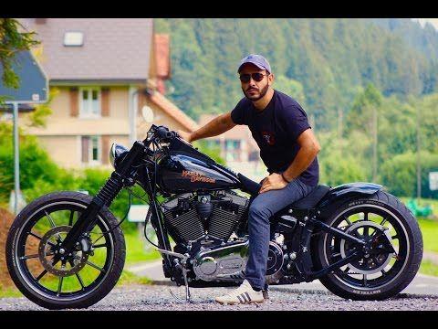 Harley Davidson Breakout Custom Fotoshooting - YouTube