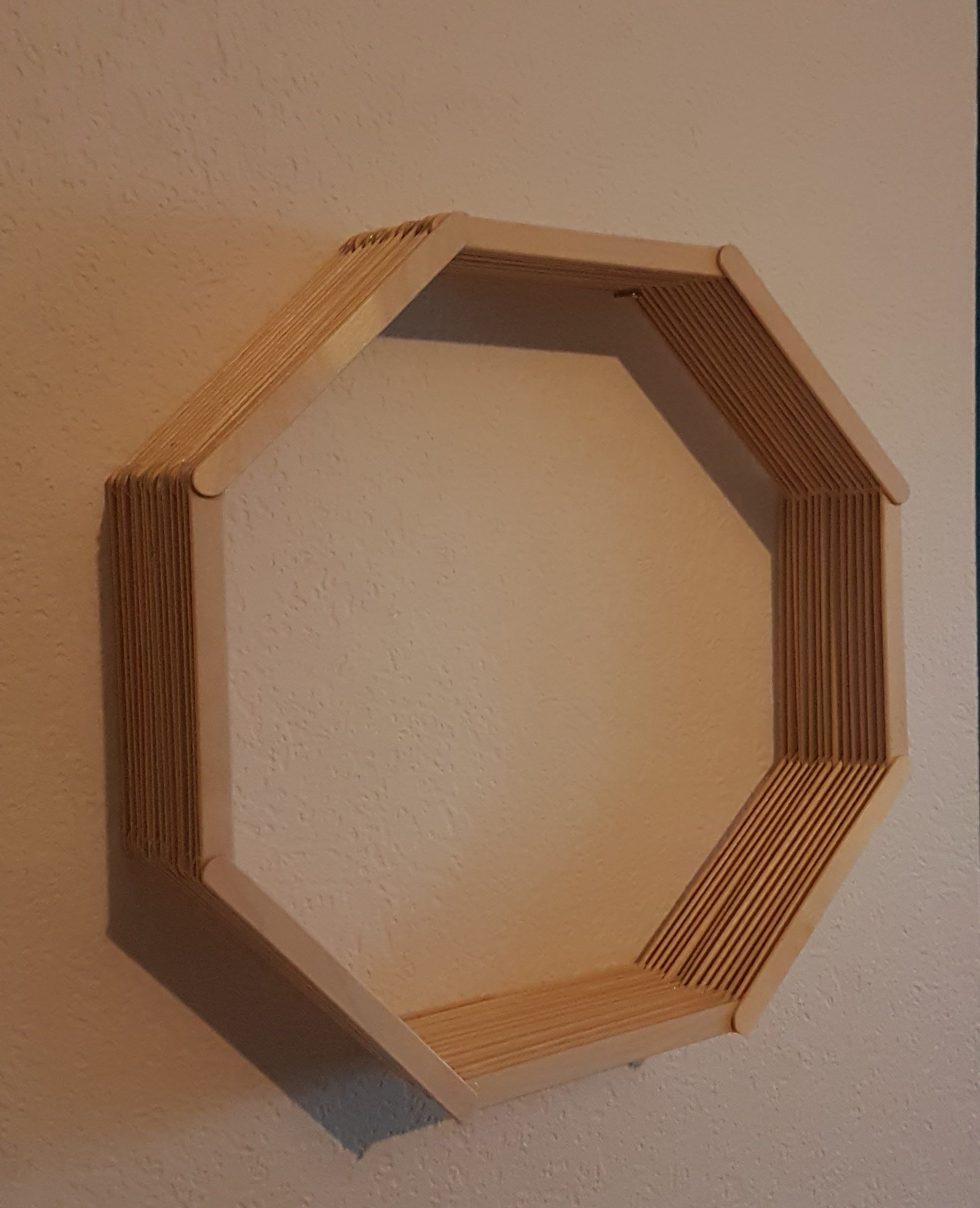 DIY Popsicle Stick Octagon Shelf